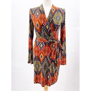 Luxe Belted Faux Wrap Dress Size Small